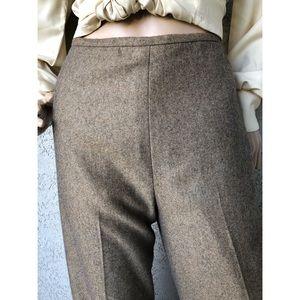 VINTAGE   Cashmere high waisted minimalist pants
